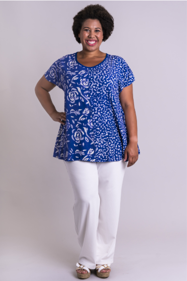 Kiana Top, Violet Rose Garden - Blue Sky Clothing Co
