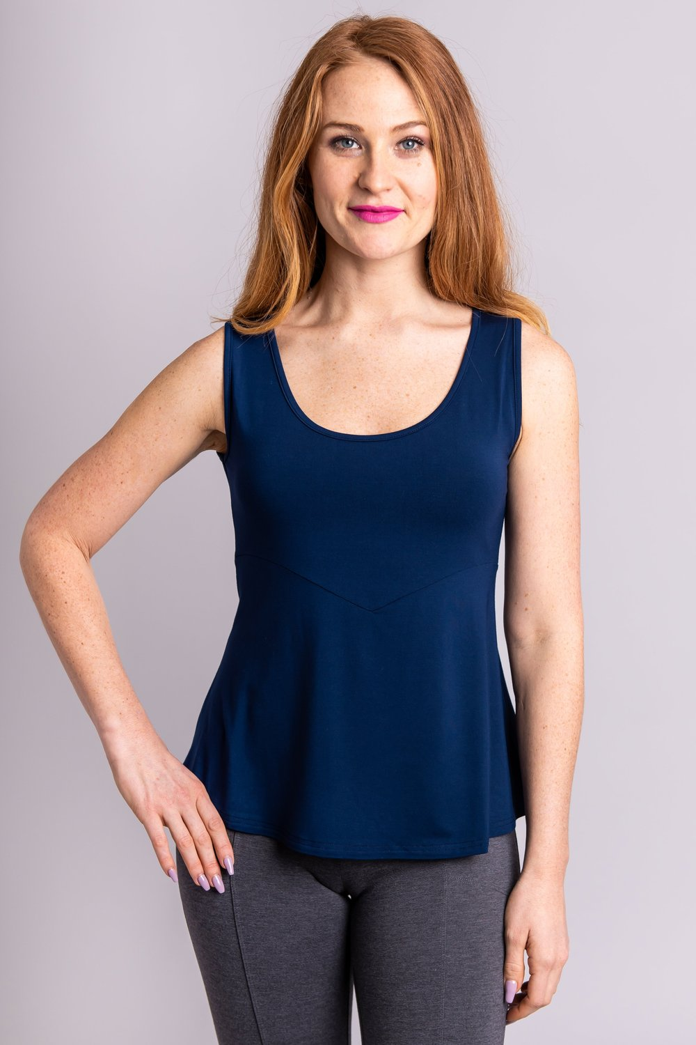 Kim Tank, Indigo - Blue Sky Clothing Co