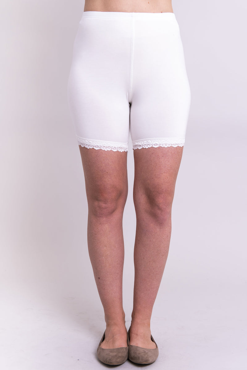 Kitty Undershorts, White, Bamboo - Blue Sky Clothing Co