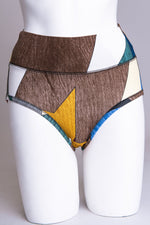 Women's comfortable high waisted underwear control briefs made with natural bamboo fibers.