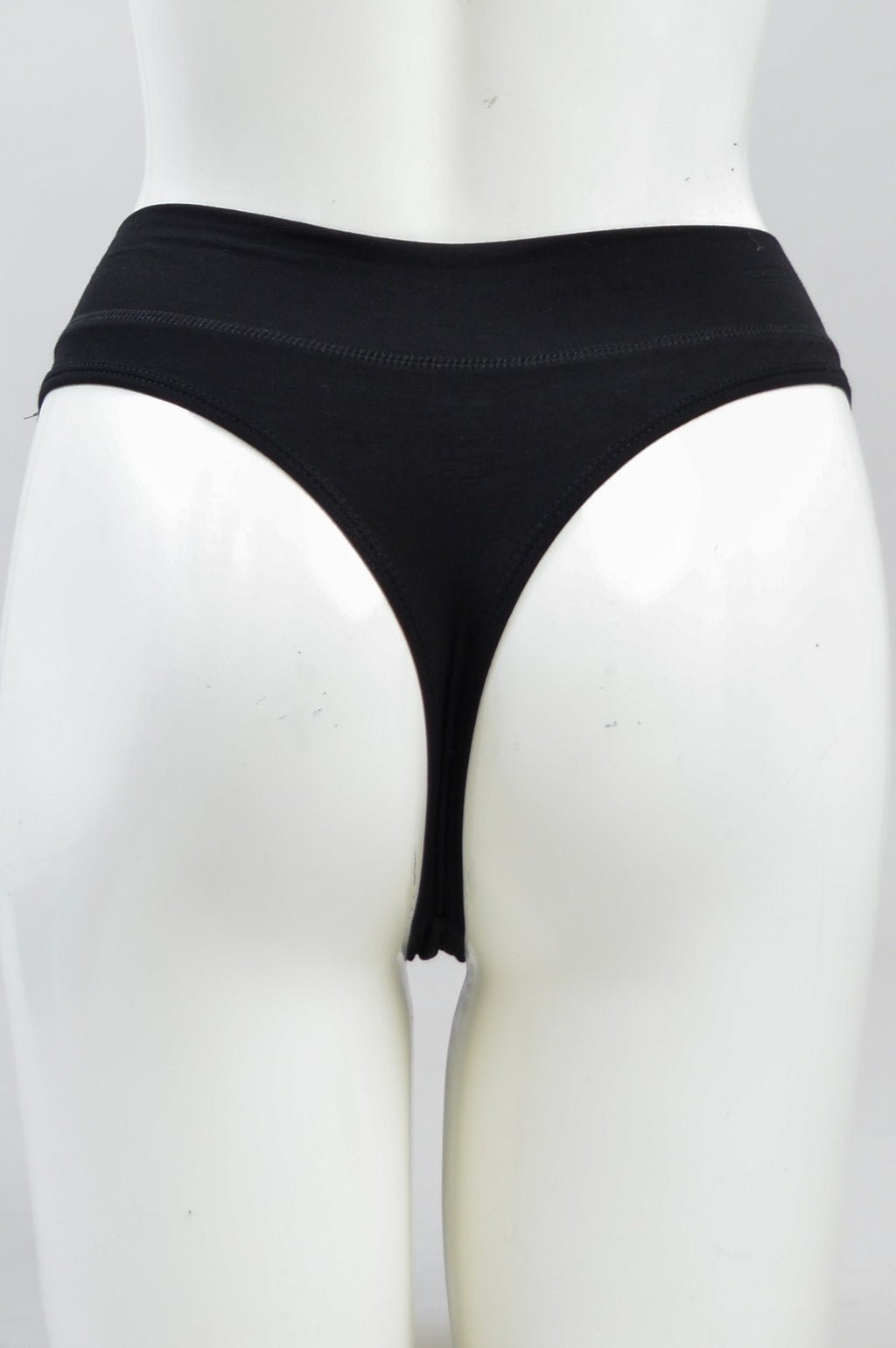 La Thong, Black, Bamboo - Blue Sky Clothing Co