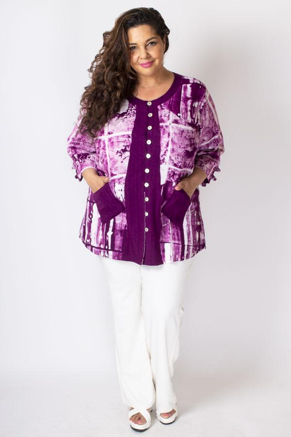 Laura Top, Magenta/White Framework