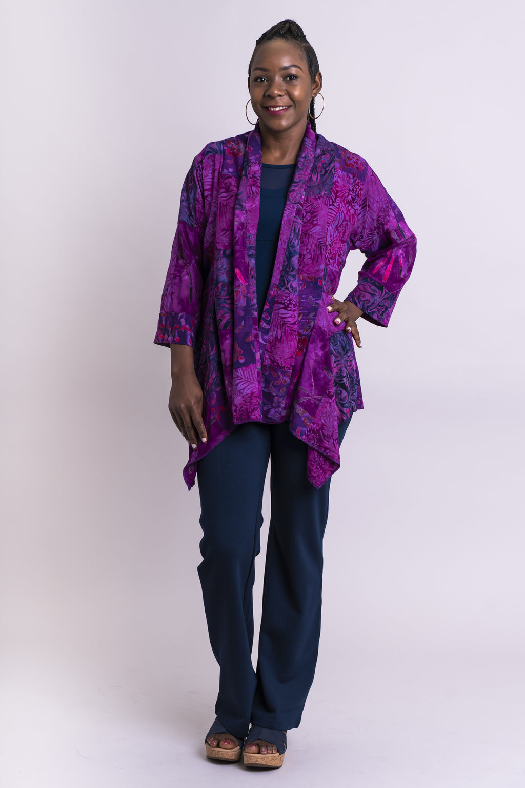 Lotus Jacket, Magic Magenta, Batik Art - Blue Sky Clothing Co
