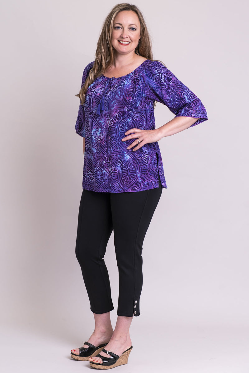 Luna Top, Purple Aztec