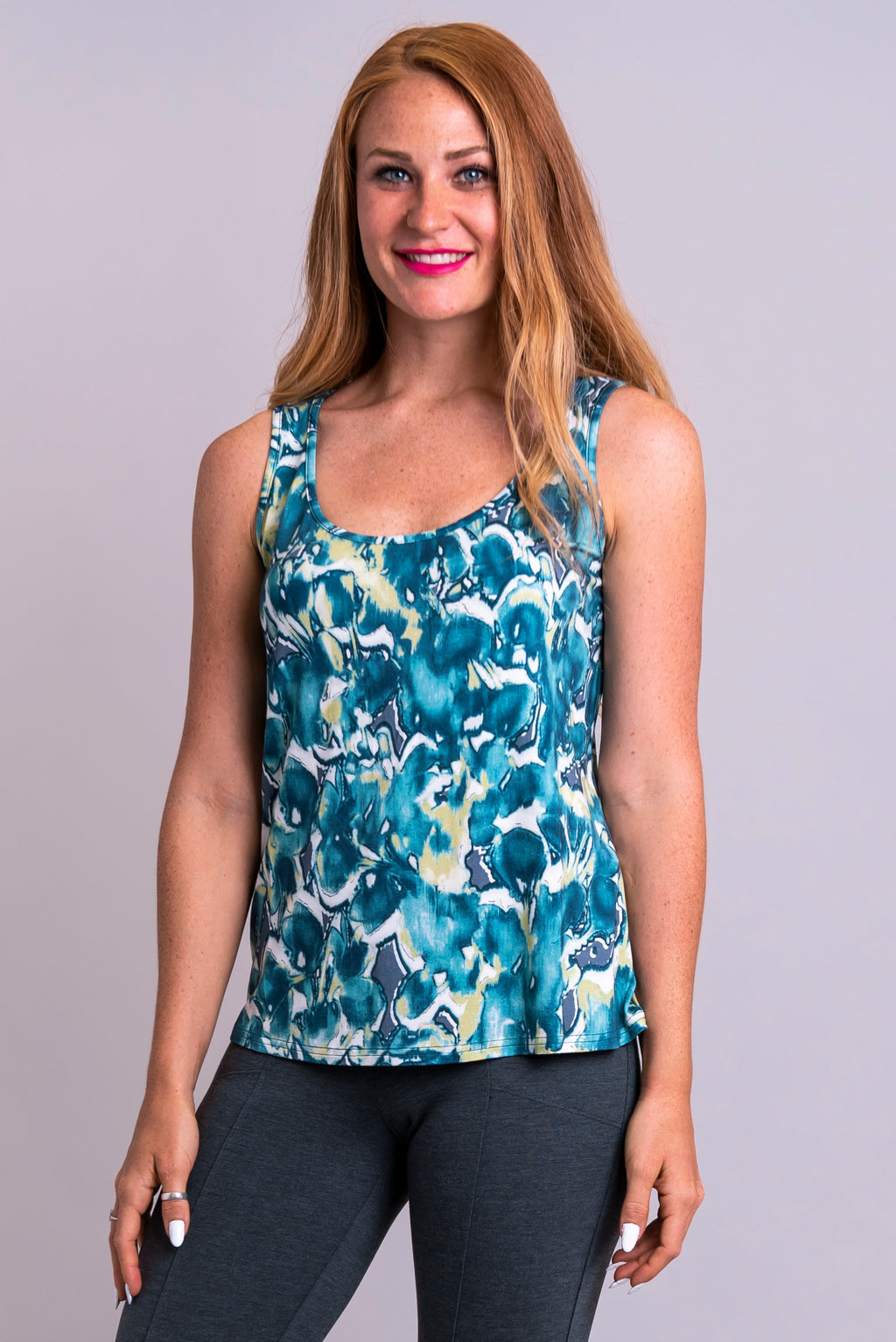Marcie Tank, Beachwaves, Bamboo - Blue Sky Clothing Co