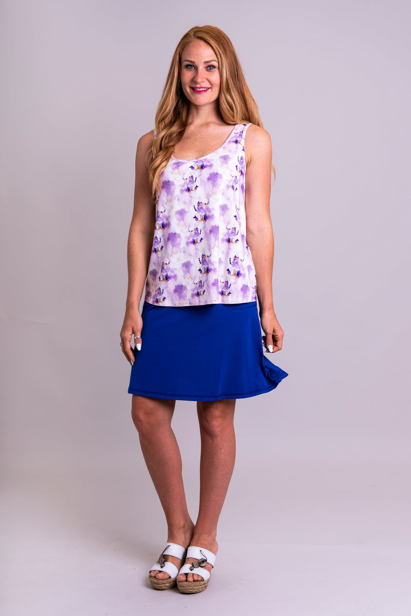 Marcie Tank, Orchid Watercolours, Bamboo - Blue Sky Clothing Co