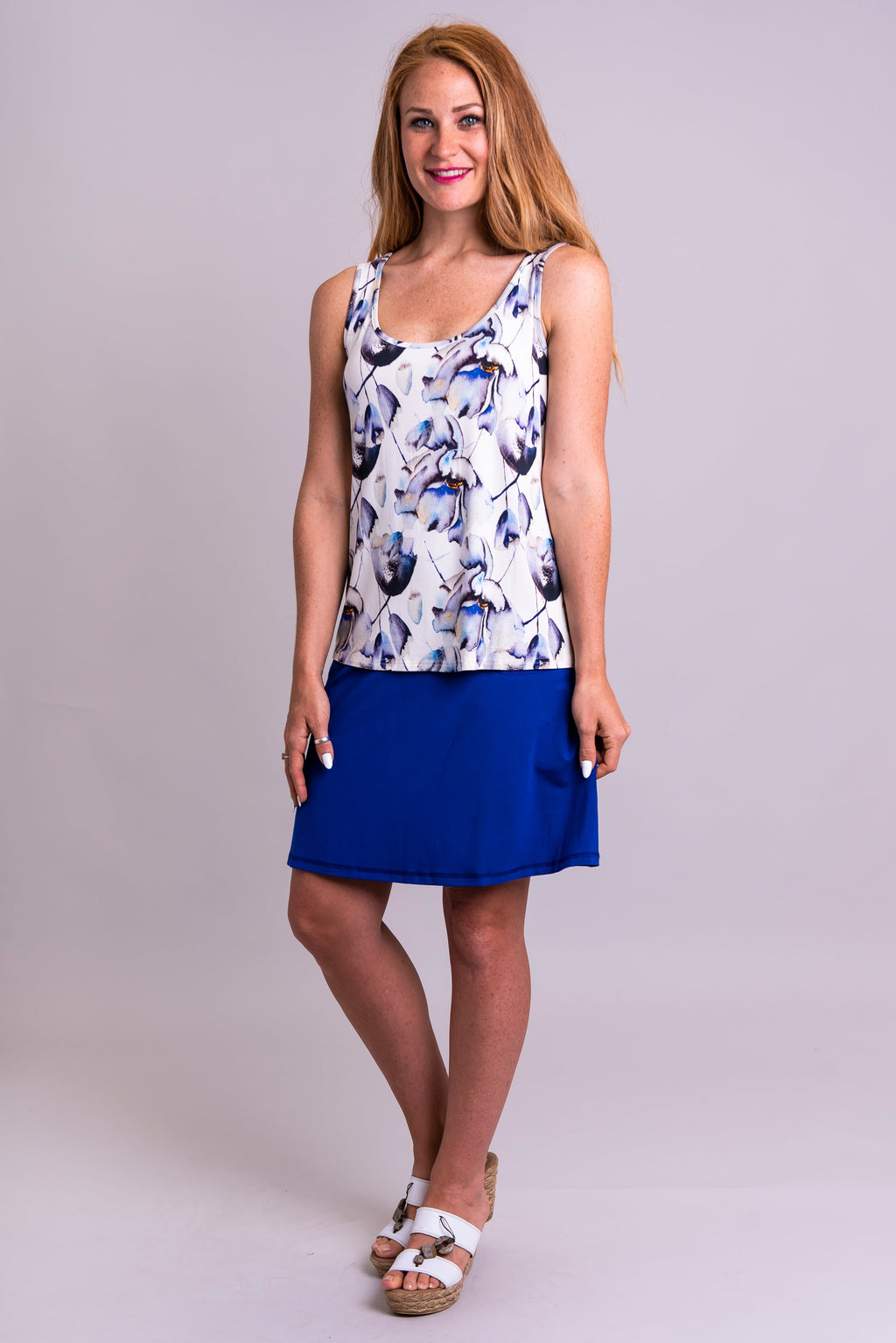 Marcie Tank, Secret Garden, Bamboo - Blue Sky Clothing Co