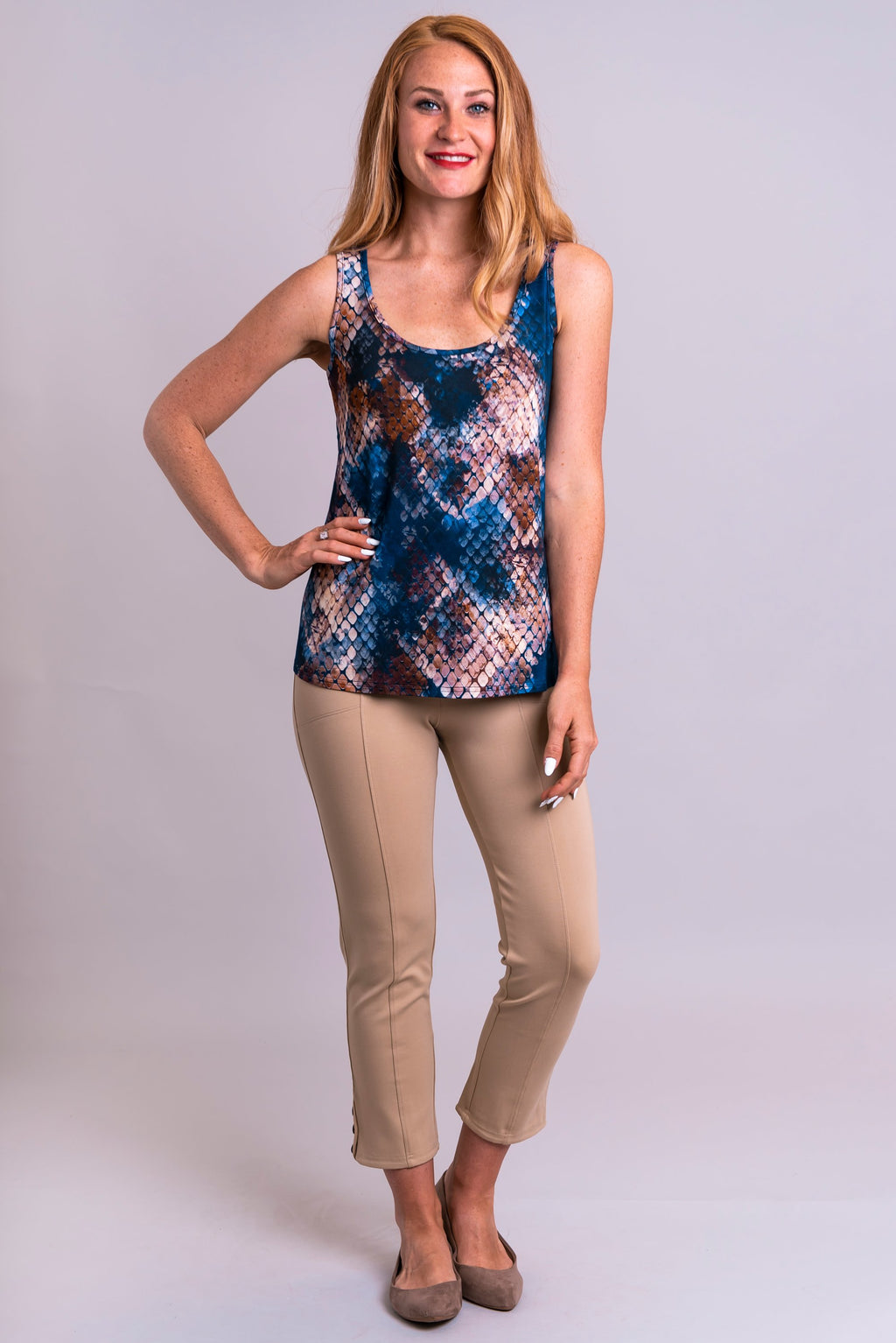Marcie Tank, Snakeskin, Bamboo - Blue Sky Clothing Co