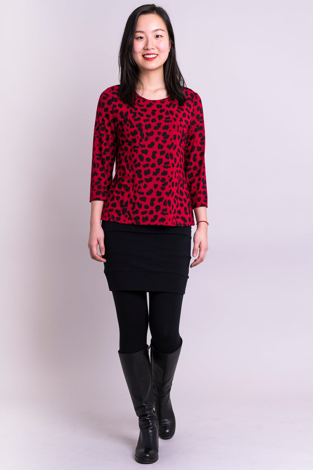 Margorie Top, Lipstick Cheetah, Bamboo
