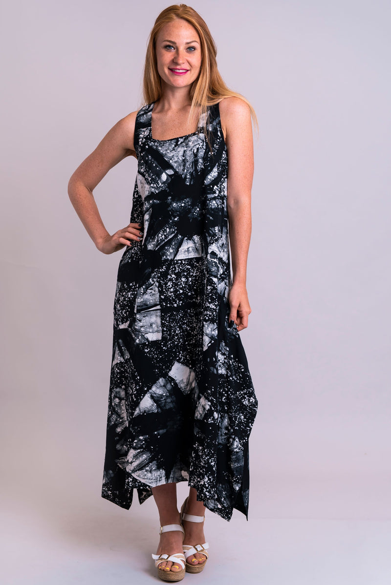 Maria Dress, Moonlight, Batik Art - Blue Sky Clothing Co
