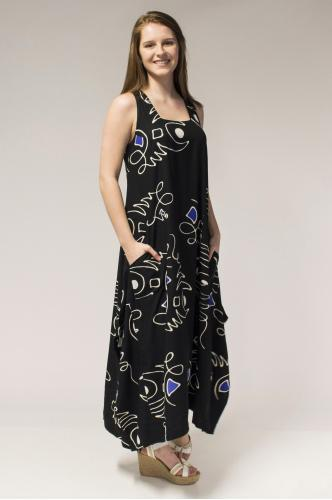 Maria Dress, Violet Doodles - Blue Sky Clothing Co