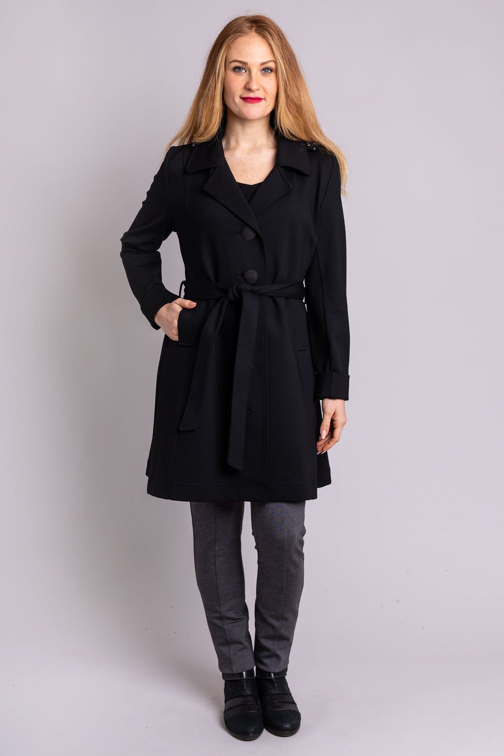 Marianas Trench Coat, Black, Modal - Blue Sky Clothing Co