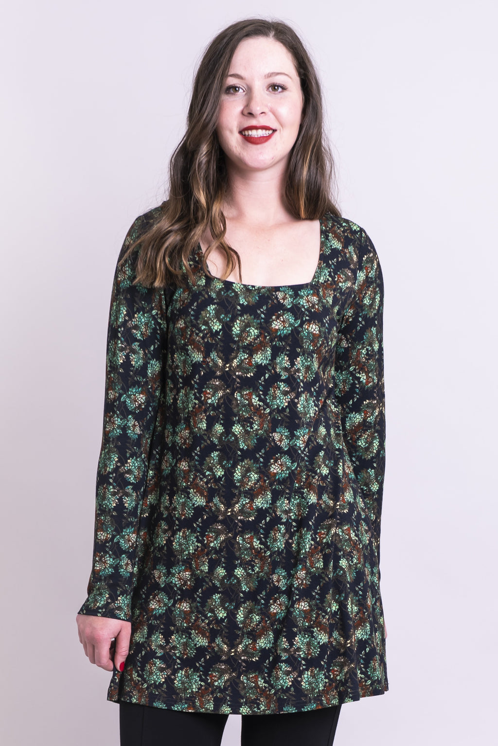 Marissa Tunic, Sage Dahlia, Bamboo - Blue Sky Clothing Co