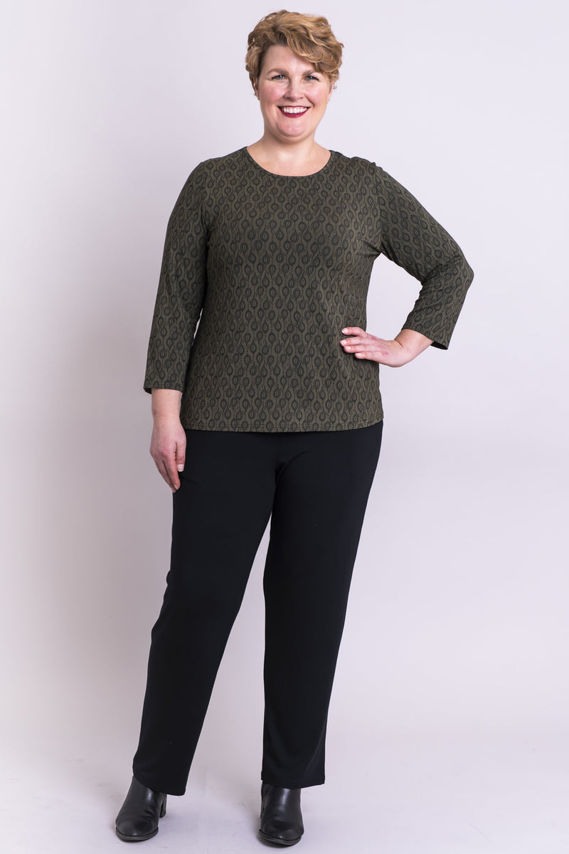 Marjorie Top, Khaki Chinook, Bamboo - Blue Sky Clothing Co