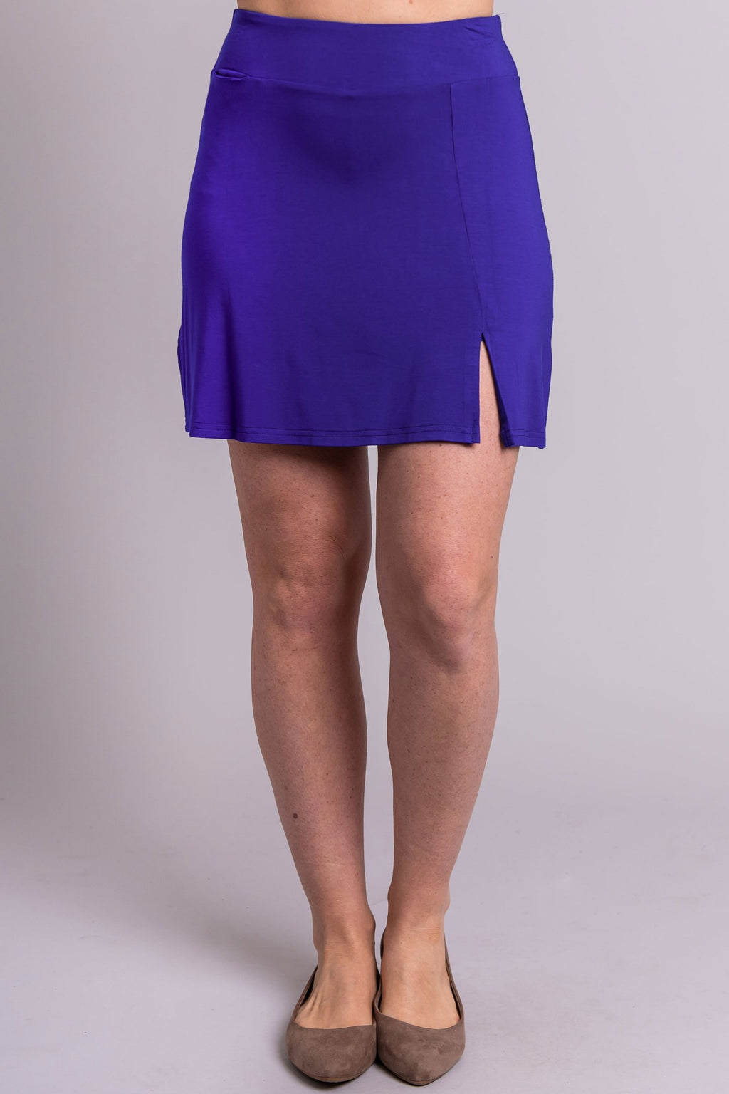 Melly Skort, Violet, Bamboo - Blue Sky Clothing Co