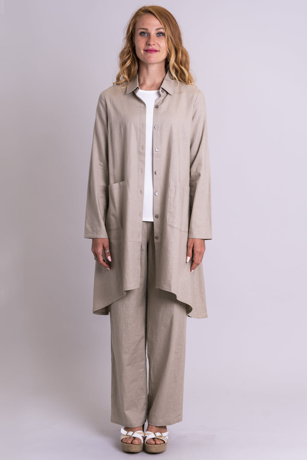 Meryl Jacket, Taupe, Linen Viscose - Blue Sky Clothing Co