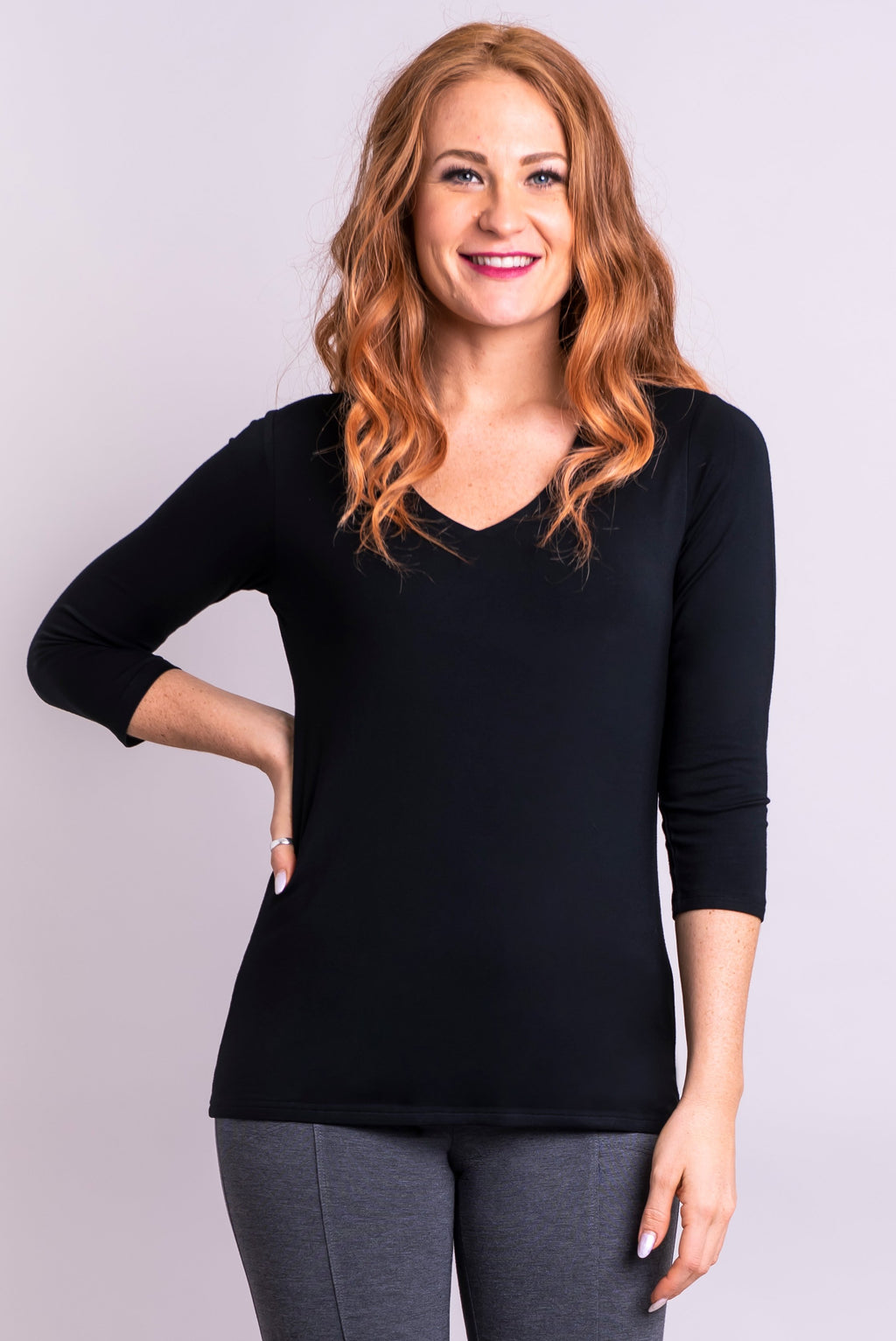 Mia Top, Black, Bamboo - Blue Sky Clothing Co