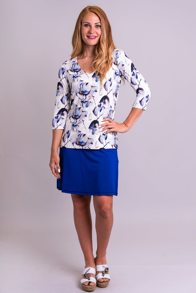 Mia Top, Secret Garden, Bamboo - Blue Sky Clothing Co