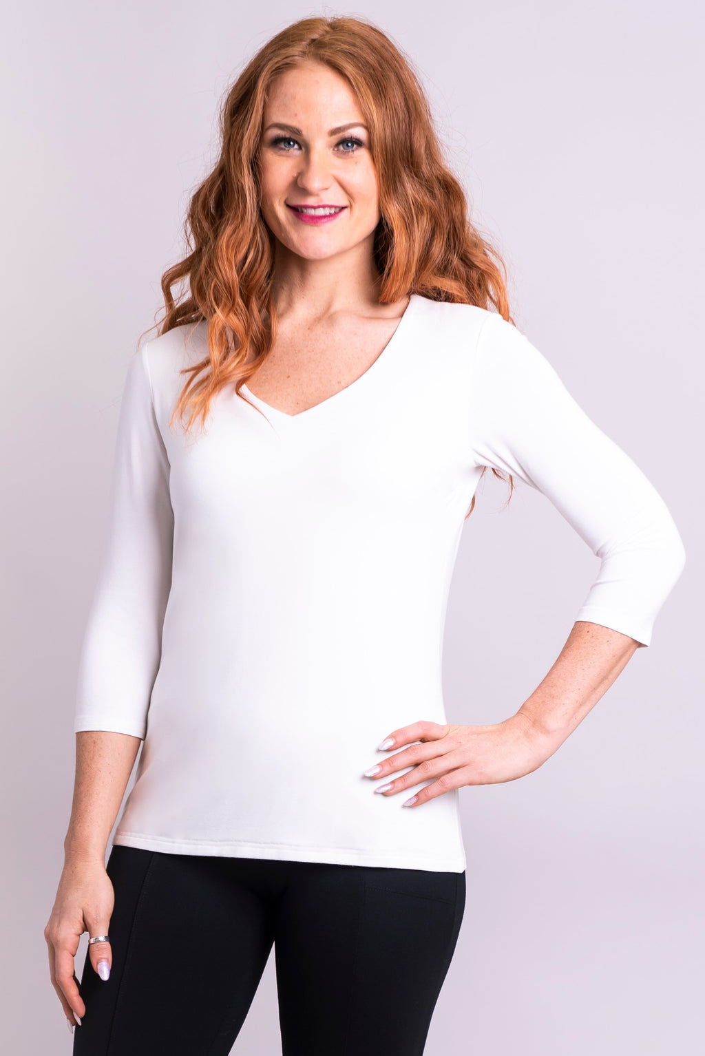 Mia Top, White, Bamboo - Blue Sky Clothing Co