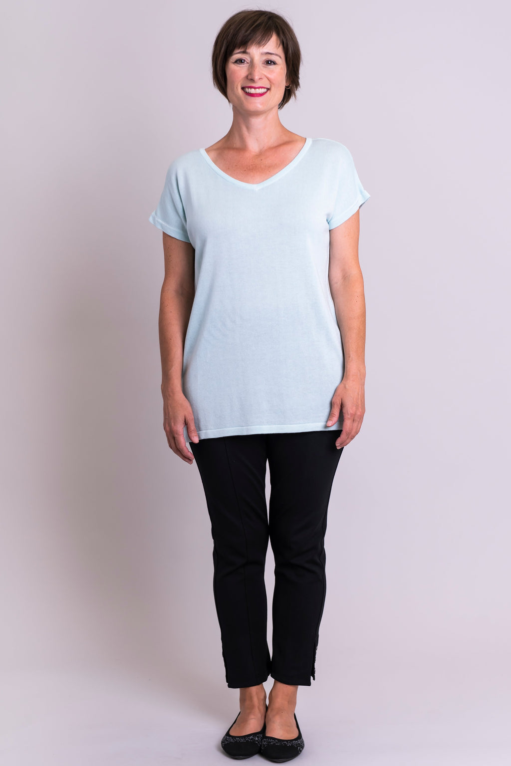 Millie Sweater, Fresh Mint, Bamboo Cotton - Blue Sky Clothing Co