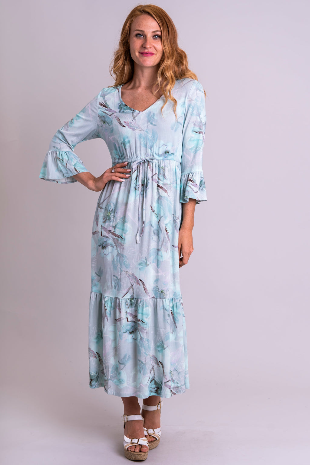 Muse Dress, Mintage, Linen Bamboo - Blue Sky Clothing Co