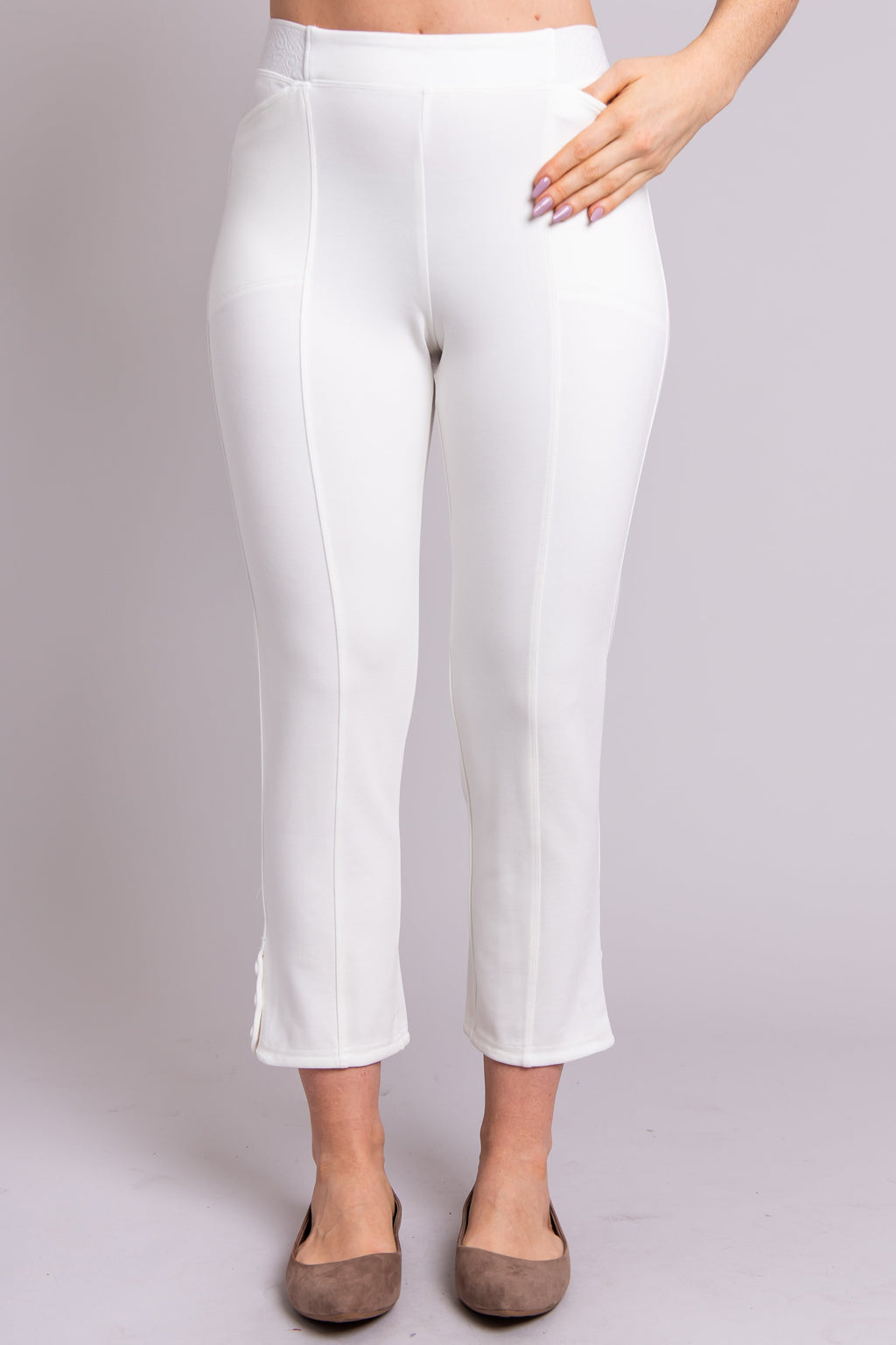 Nadine Pant, White, Modal - Blue Sky Clothing Co