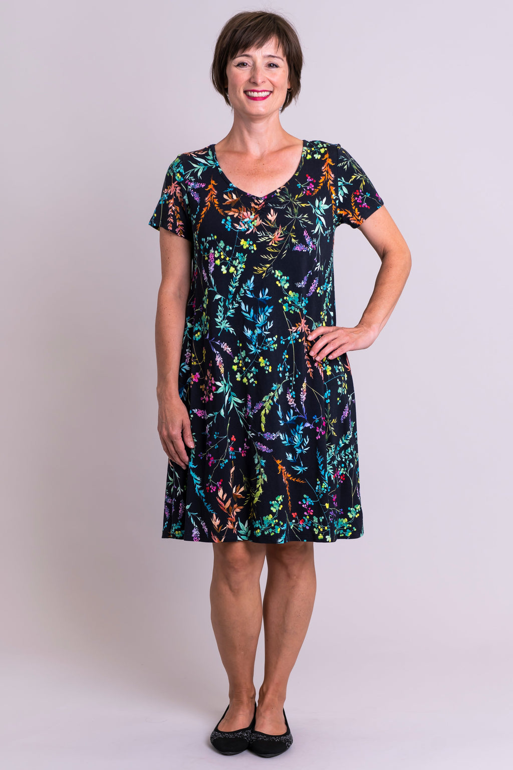 Nala Dress, Rainbow Valley, Bamboo