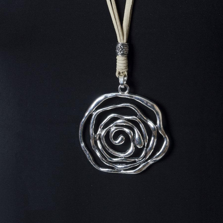 Necklace  Natural/Spiral Rose - Blue Sky Clothing Co