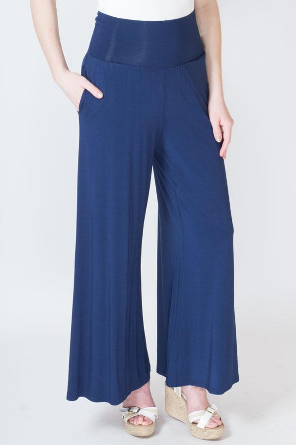 Palazzo Pant, Indigo, Bamboo - Blue Sky Clothing Co