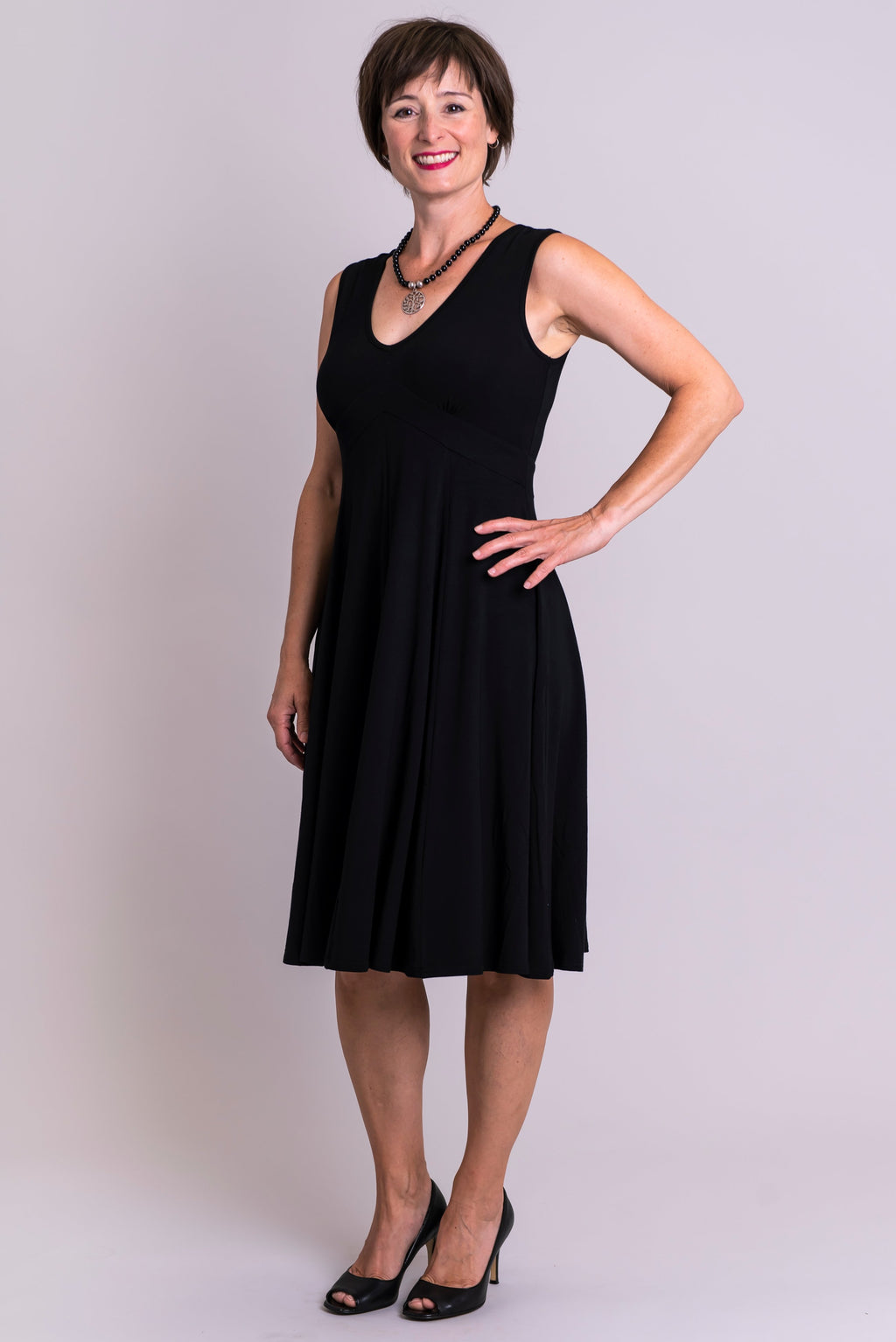 Pamela Dress, Black, Bamboo - Blue Sky Clothing Co