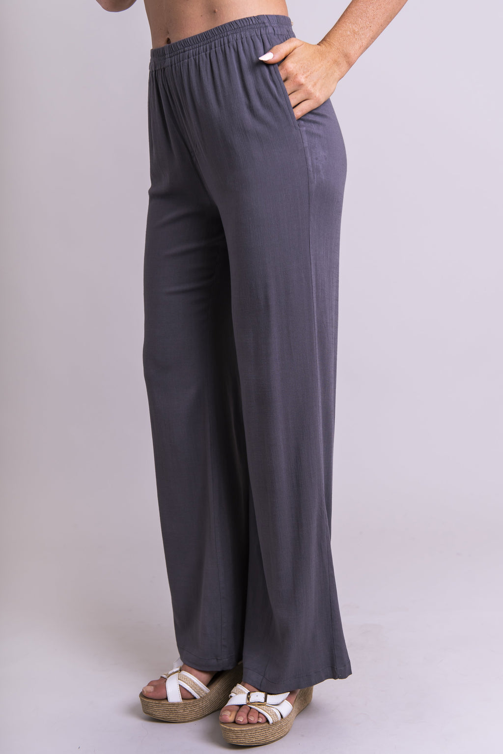 Parker Pant, Ash Grey, Linen Bamboo - Blue Sky Clothing Co