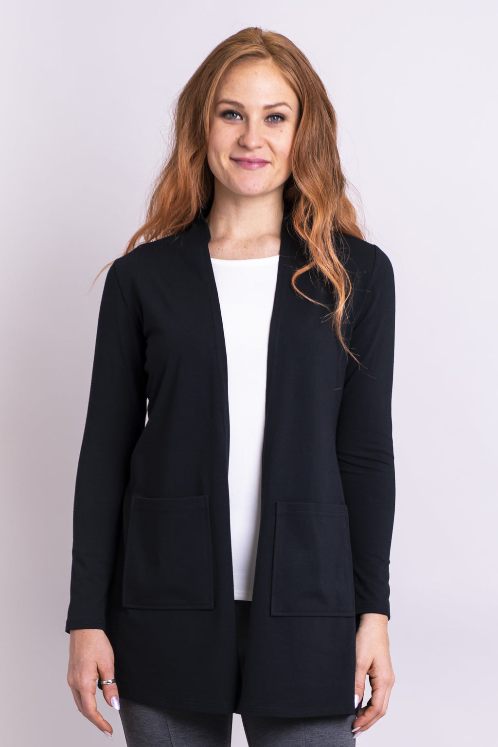 Pauline Jacket, Black, Bamboo - Blue Sky Clothing Co