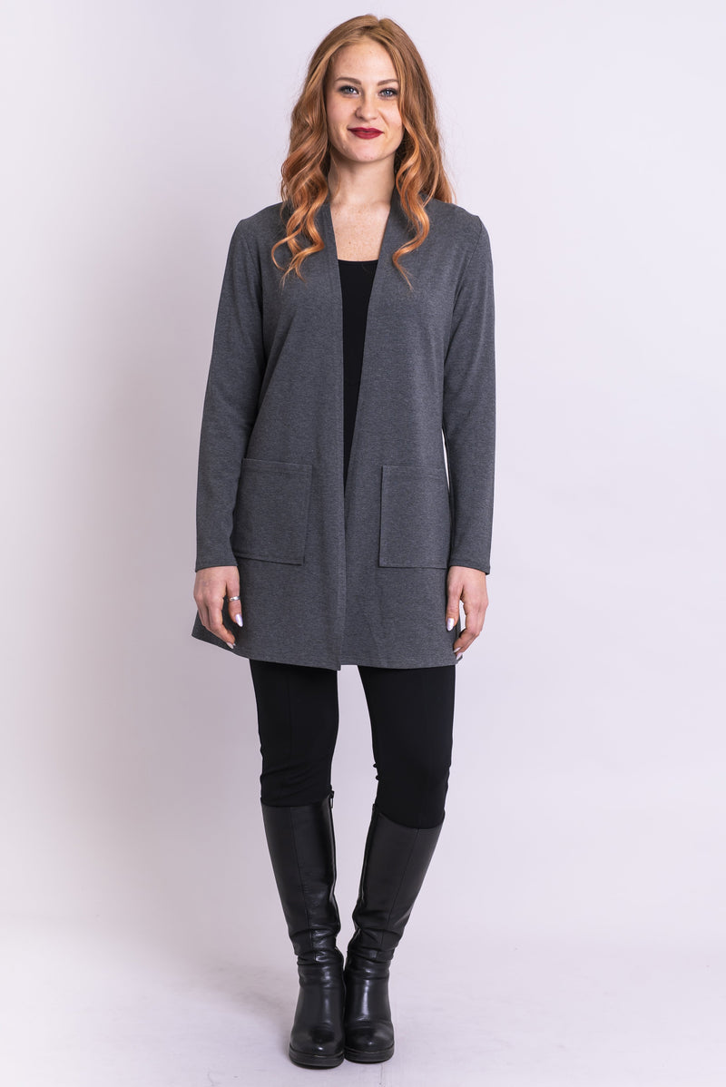 Pauline Jacket, Yarn Dye Grey, Bamboo - Blue Sky Clothing Co