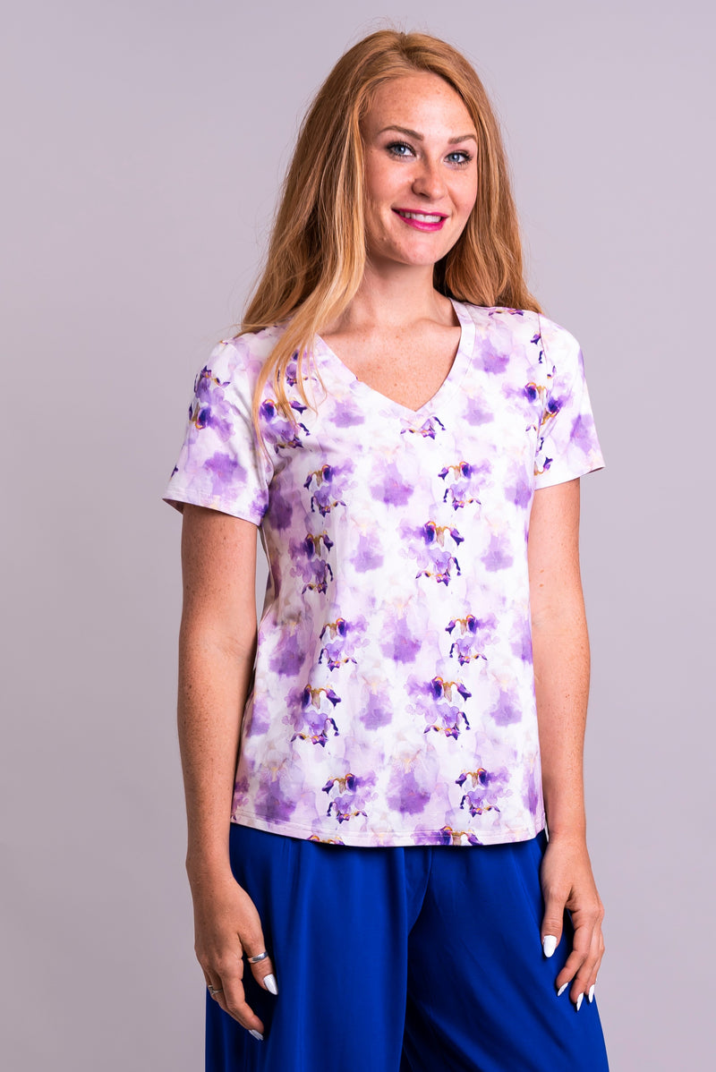 Peace Top, Orchid Watercolours, Bamboo - Blue Sky Clothing Co