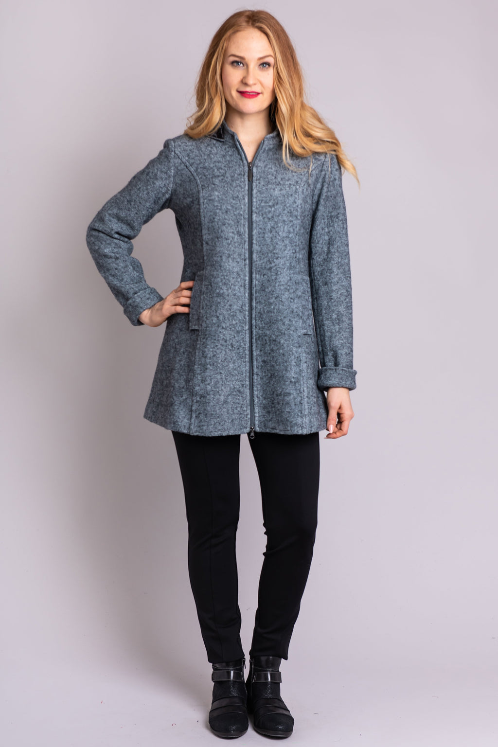 Pender Coat, Pearl Grey - Blue Sky Clothing Co