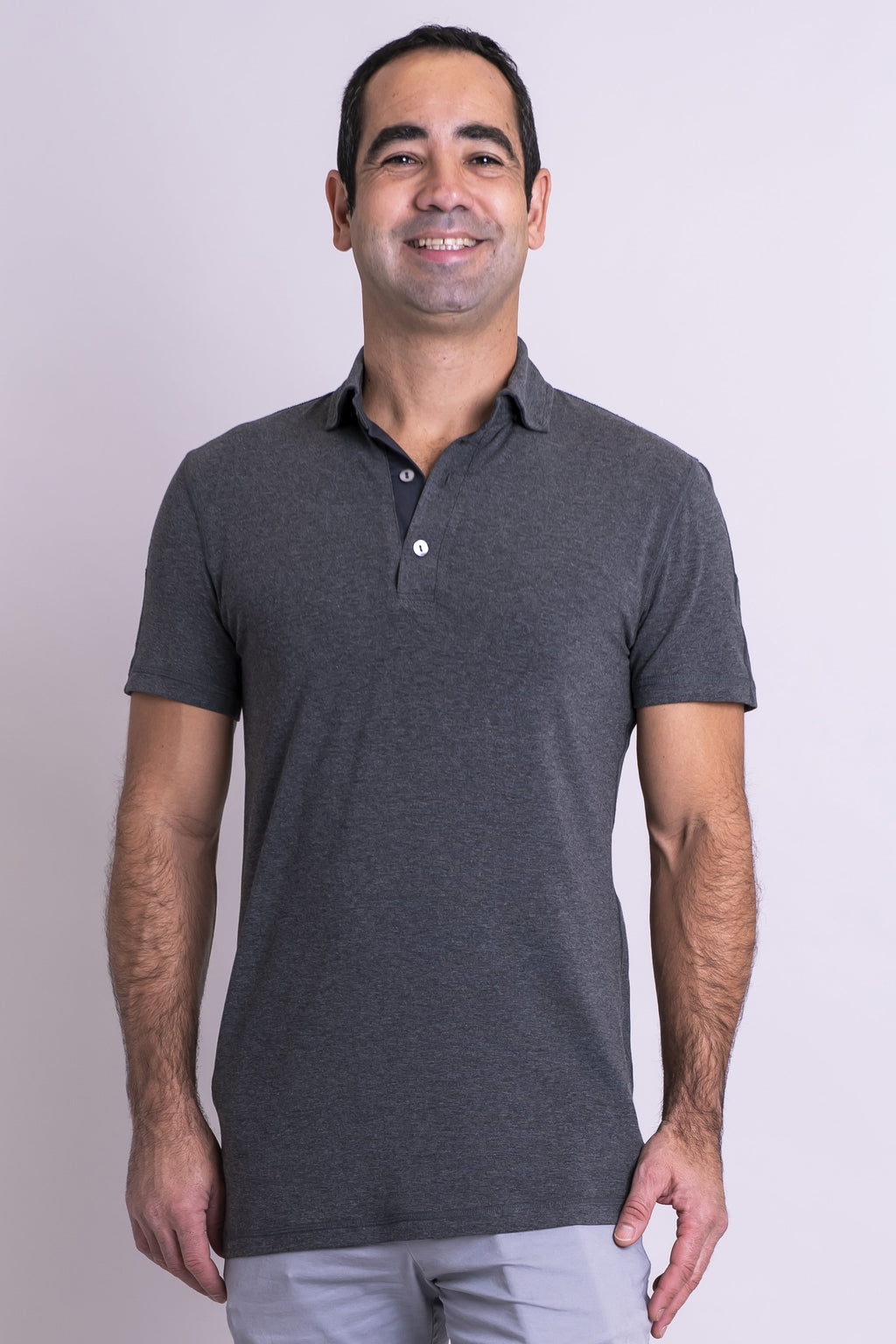 Phil Polo, Yarn Dyed Grey, Bamboo Cotton