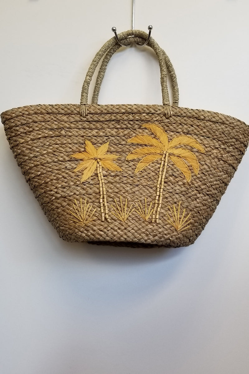 Rattan Bag with Hand Embroidery - Blue Sky Clothing Co
