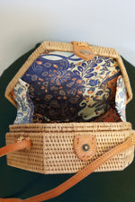 Hex Rattan Purse, Natural - Blue Sky Clothing Co