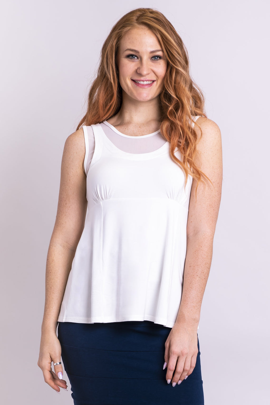 Rhine Tank, White, Bamboo - Blue Sky Clothing Co
