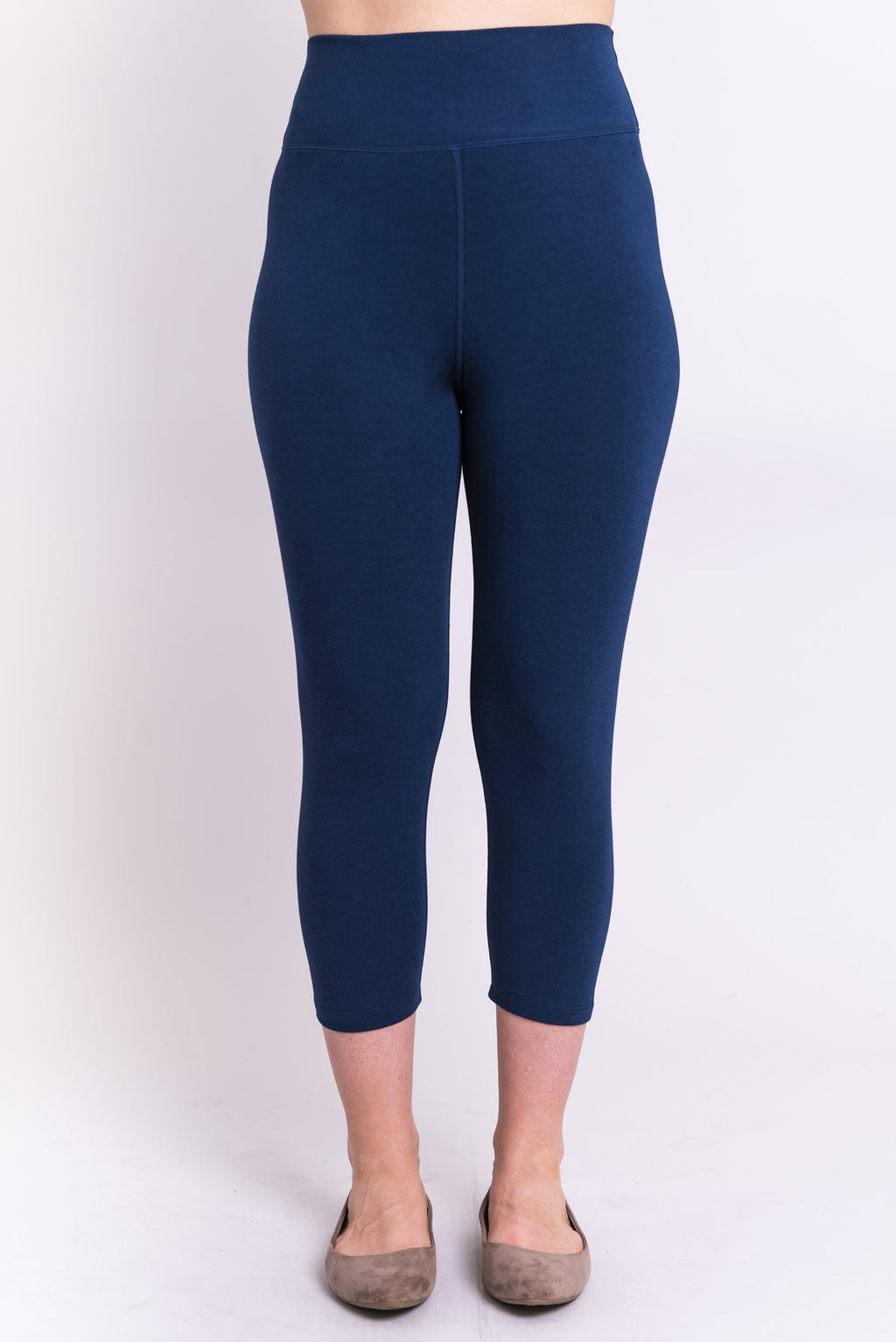 Riley Capri, Indigo, Bamboo - Blue Sky Clothing Co