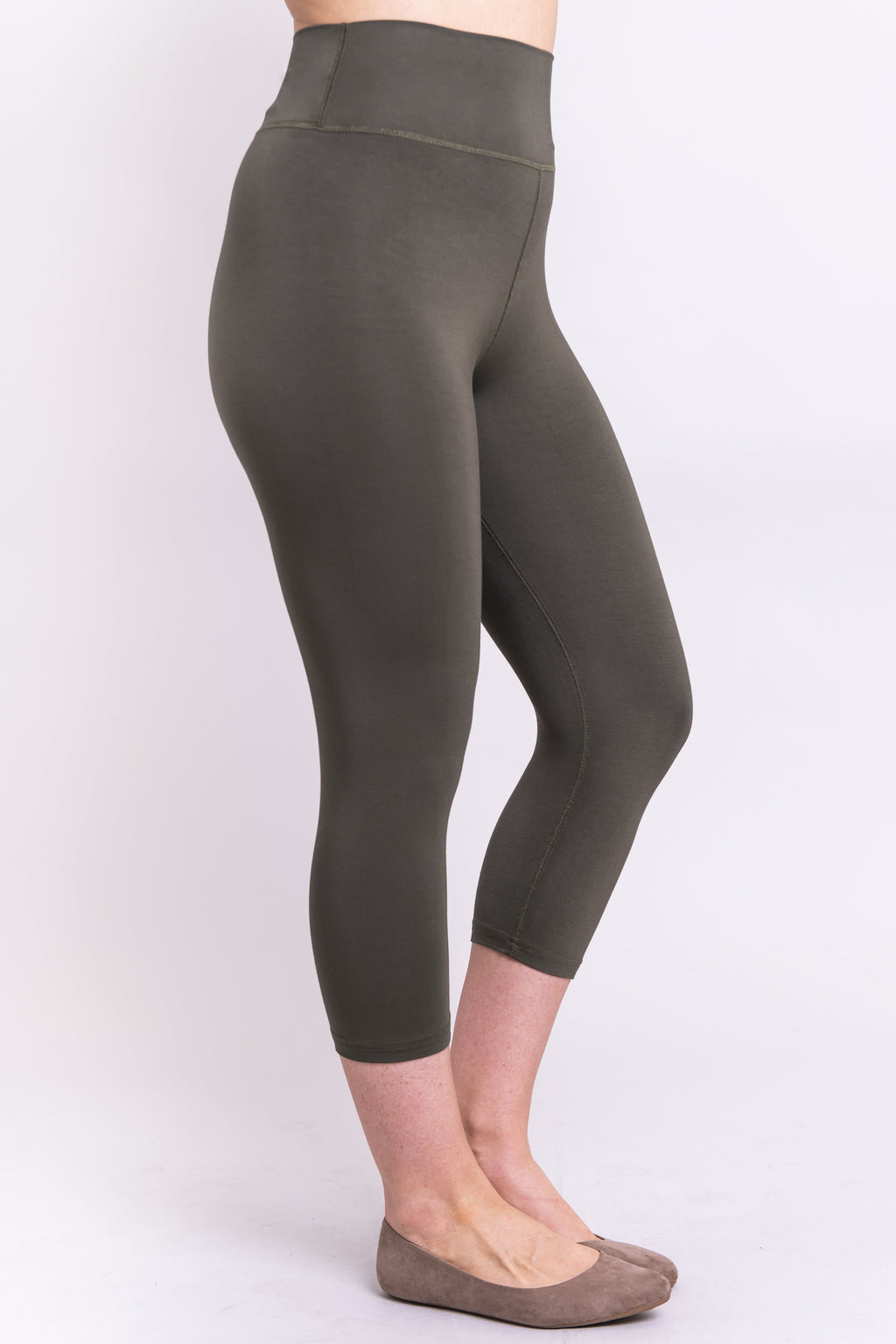 Riley Capri, Khaki, Bamboo - Blue Sky Clothing Co