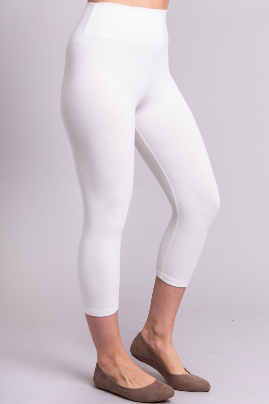 Riley Capri, White, Bamboo Cotton - Blue Sky Clothing Co