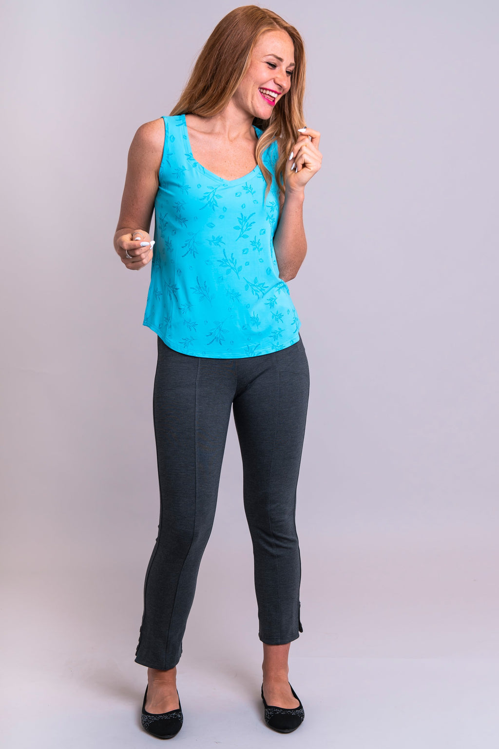Ritzy Tank, Aqua Grains, Bamboo - Blue Sky Clothing Co