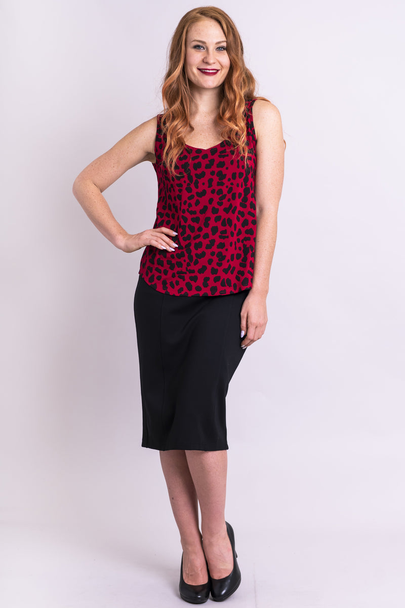 Ritzy Tank, Lipstick Cheetah, Bamboo - Blue Sky Clothing Co