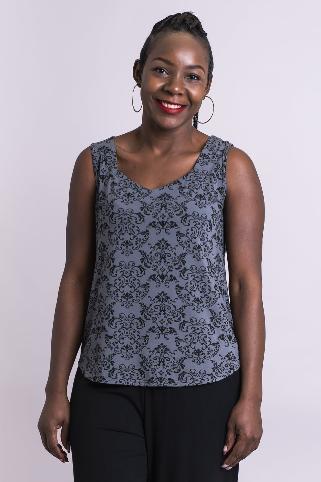 Ritzy Tank, Sharkskin Triumph, Bamboo - Blue Sky Clothing Co