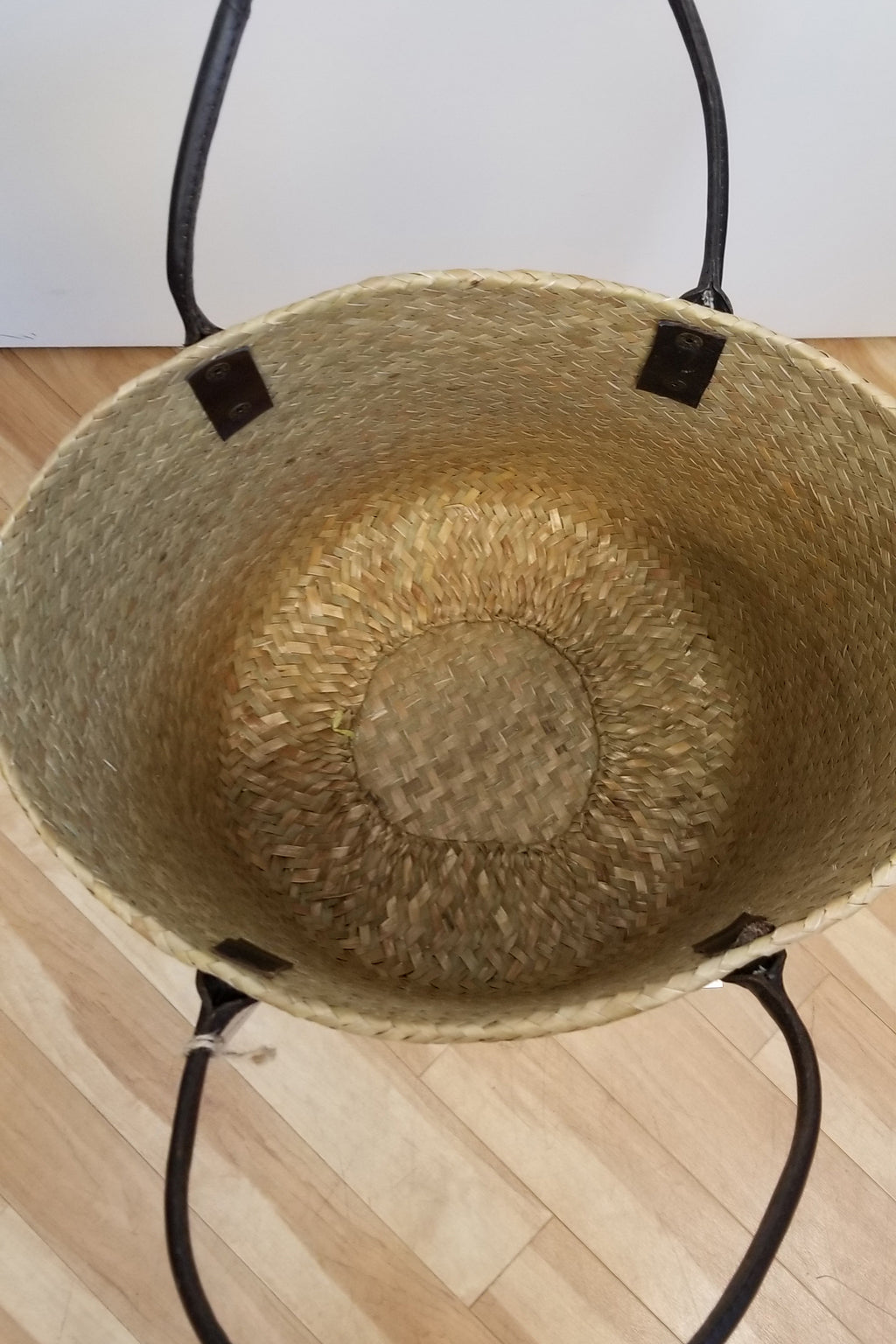 Large Weaved Basket Bag, Brown - Blue Sky Clothing Co