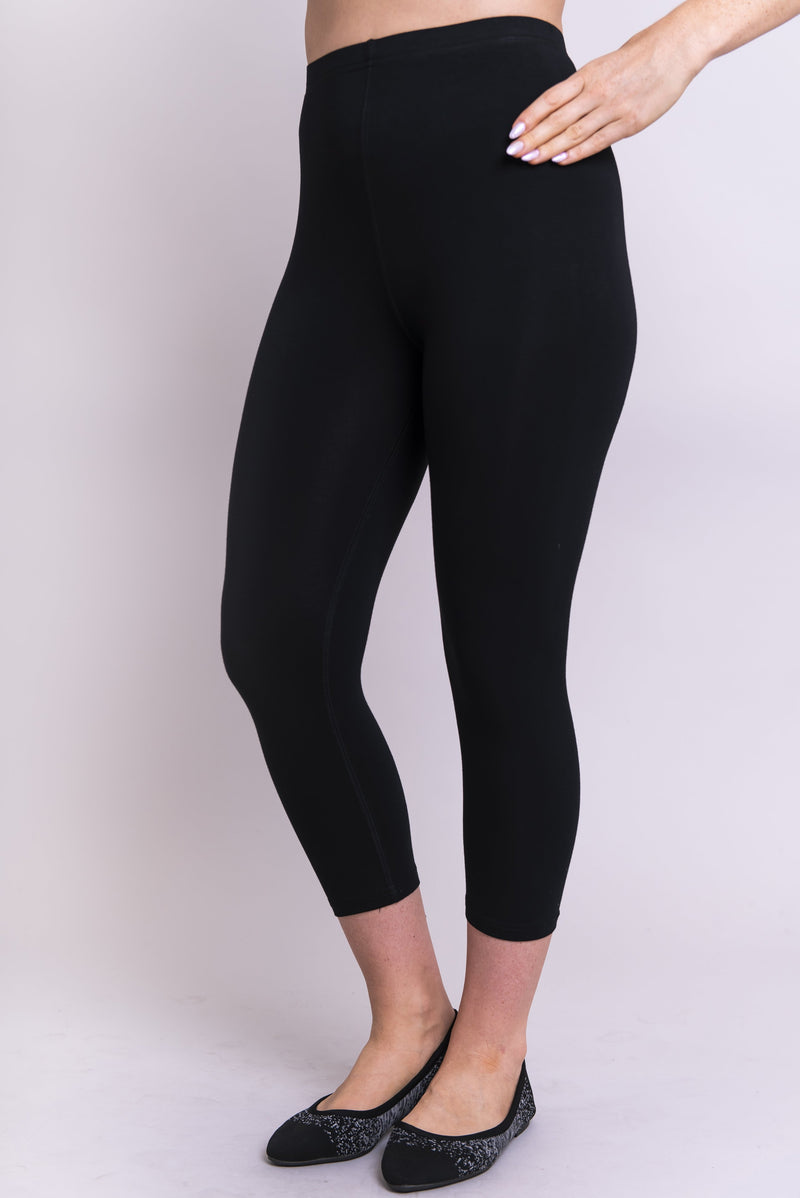 Ruby Capri, Black, Bamboo - Blue Sky Clothing Co