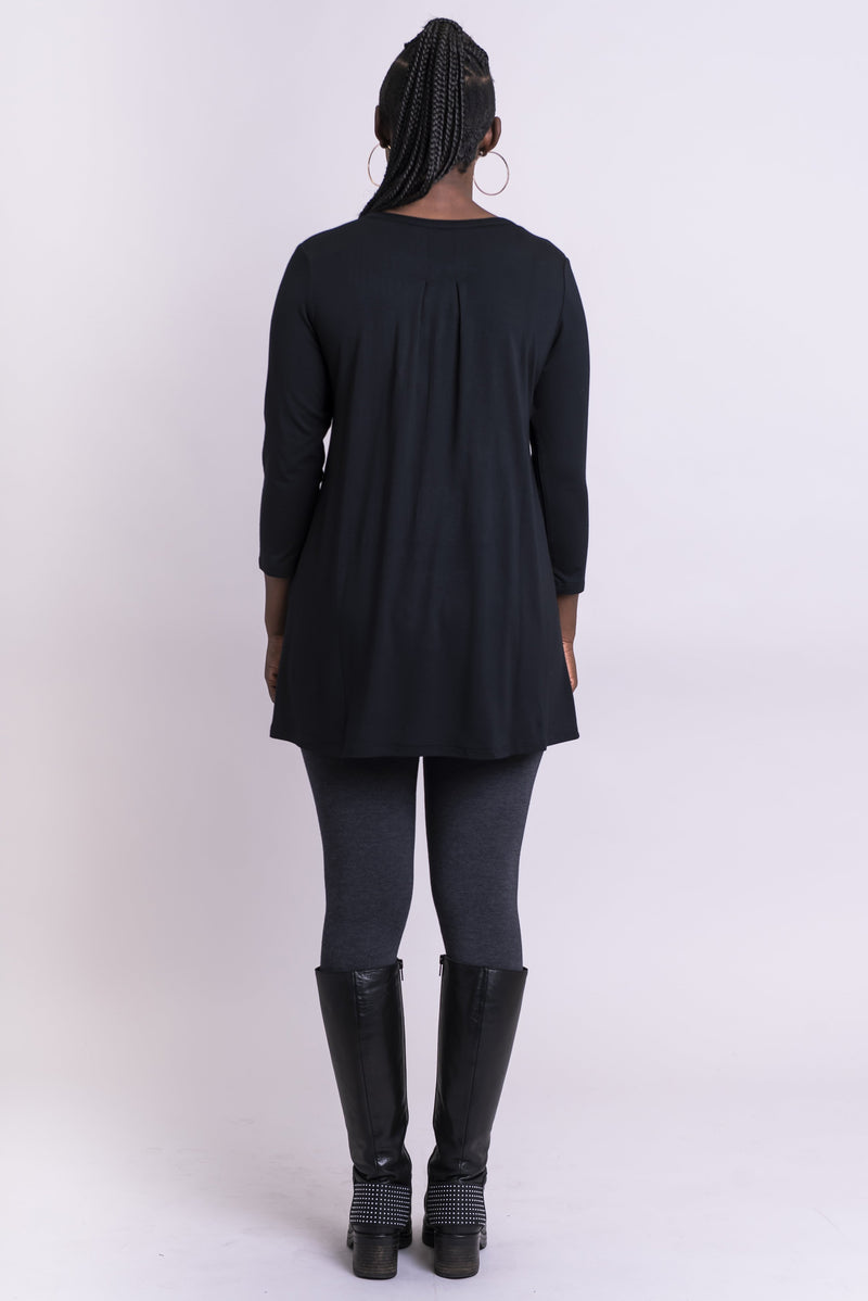 Sandy Tunic, Black, Bamboo - Blue Sky Clothing Co