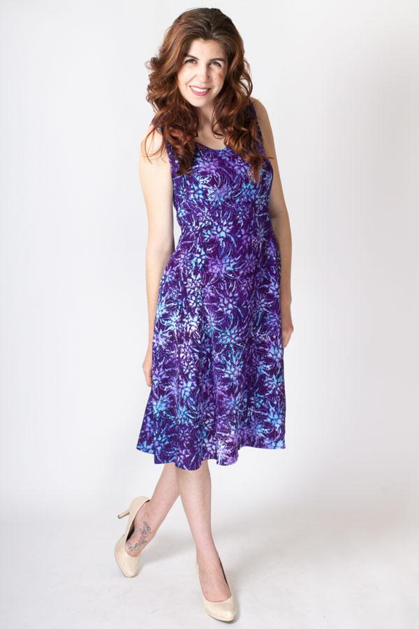 Sweet Sara Dress, Purple Aster, Viscose - Blue Sky Clothing Co