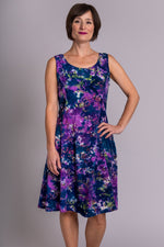 Sara Dress, Purple Palace, Batik Art - Blue Sky Clothing Co